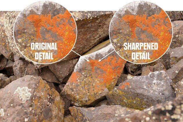 adjust sharpness