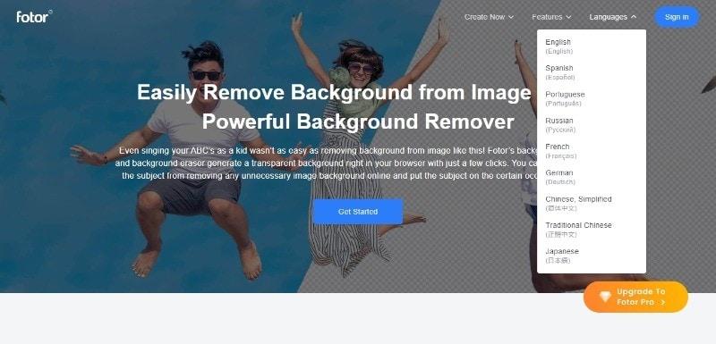 fotor background remover