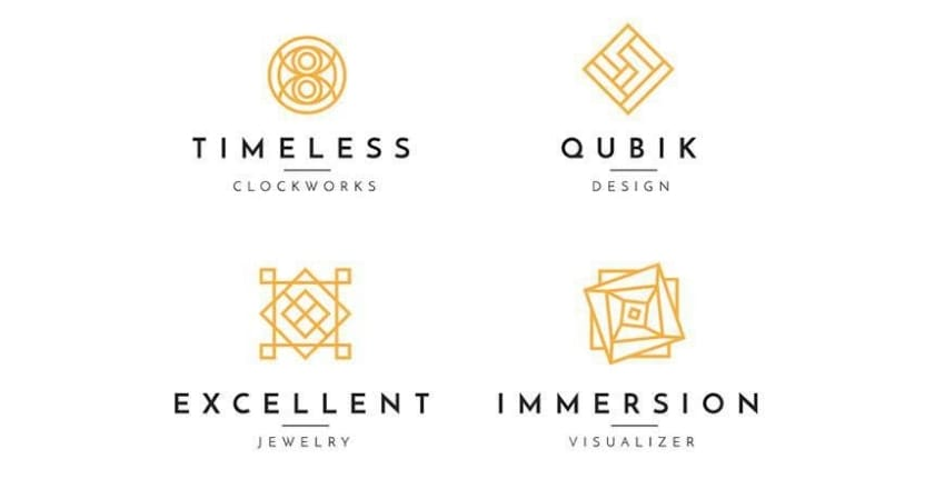 simple and geometric logos