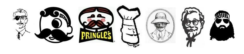 portrays in logos
