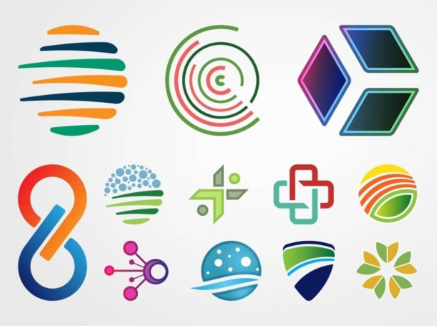 abstract logo types
