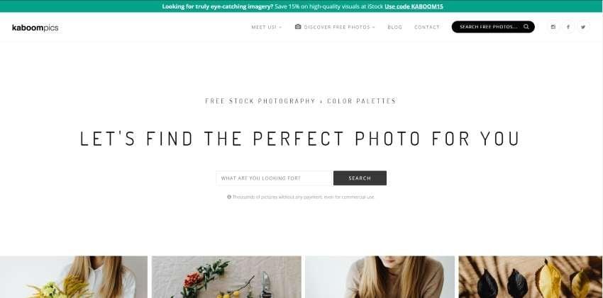 kaboompics homepage