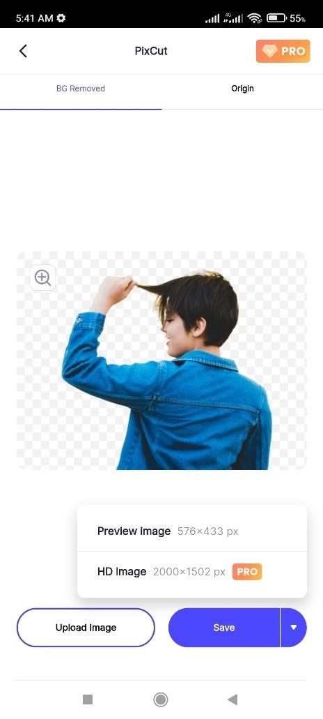 pixcut android app design