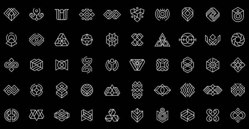 geometric shapes for logo