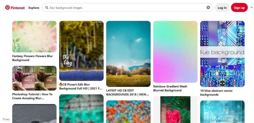 pinterest blur background images