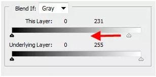 edit blending option slider