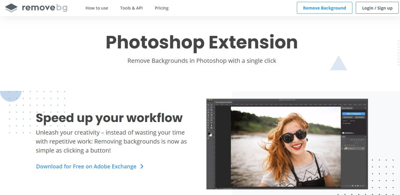 remove.bg photoshop extension