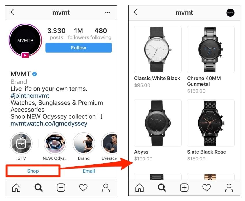 instagram shop configured