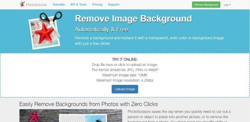 photoscissors interface