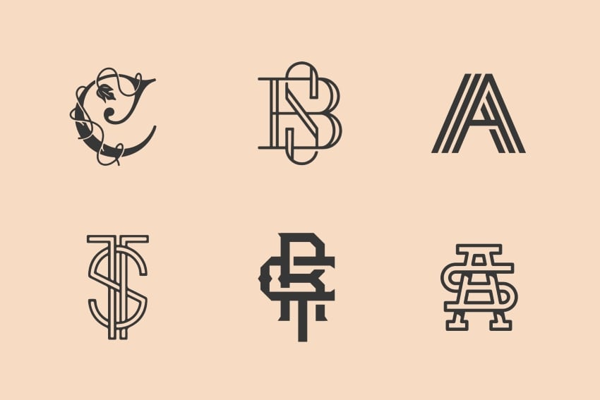 basic monogram logo designs