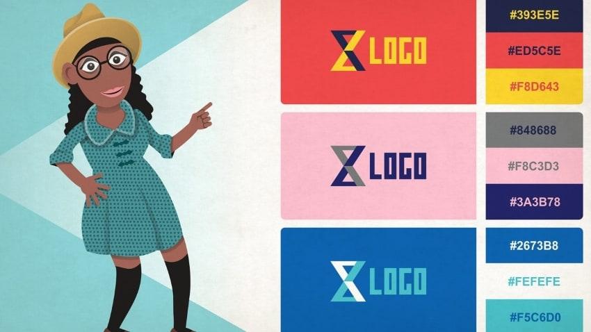 color scheme in monogram design
