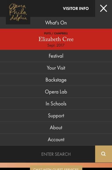 simplified menus in website design