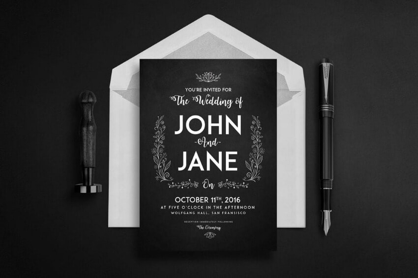 select your wedding and invitation card theme