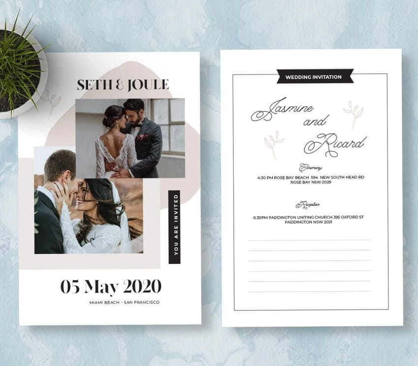 personalize your marriage invitation card