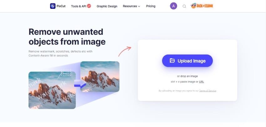 pixcut online interface