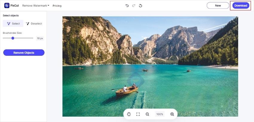 save watermark free image
