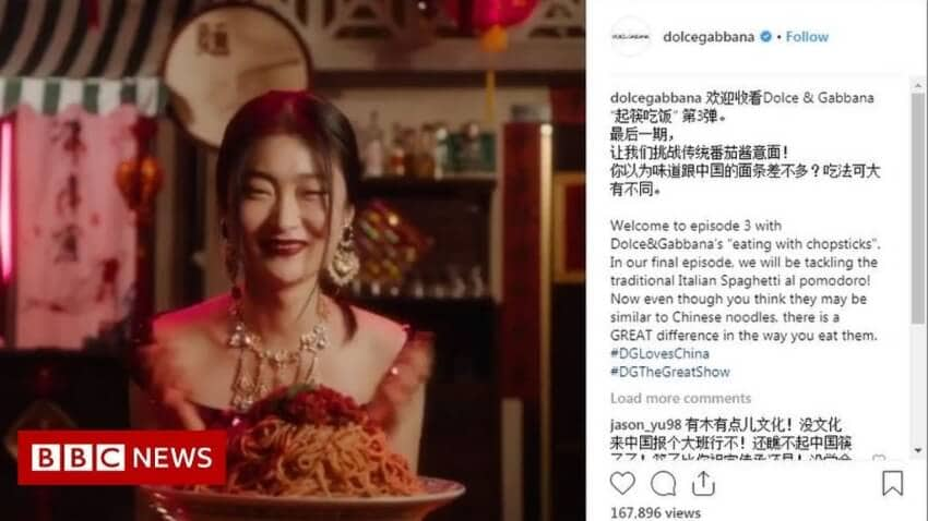 dolce and gabbana racist ad
