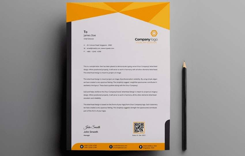 header and themes in letterheads