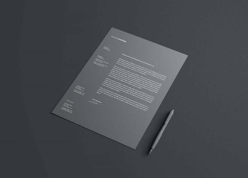 minimalistic and simple letterheads