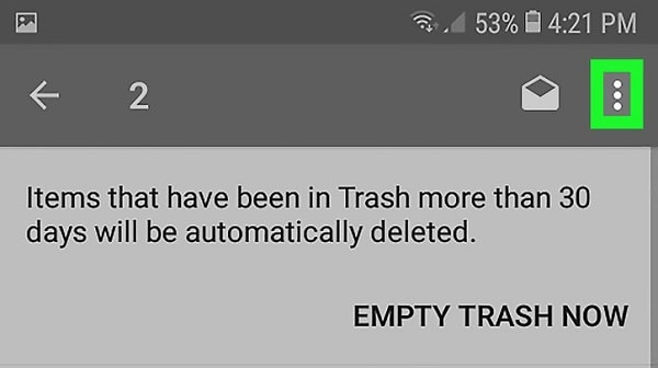 empty trash now