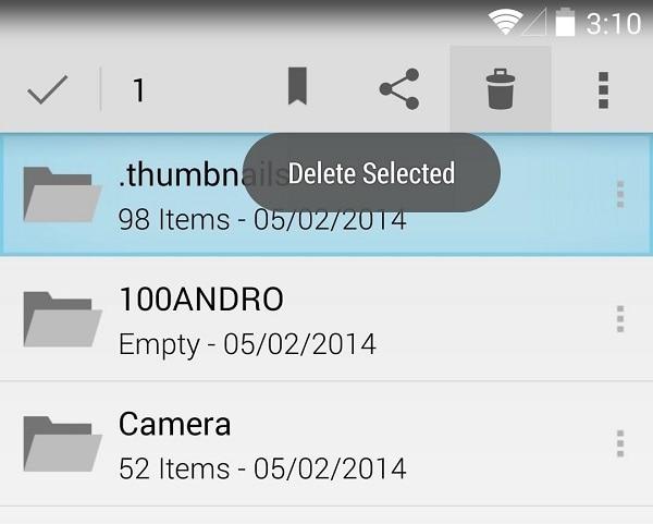 confirm to delete files