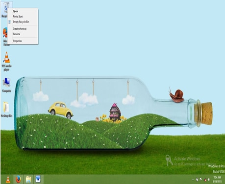 empty recycle bin on Windows-right click recycle bin