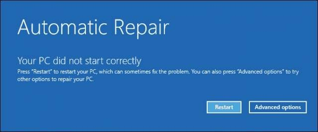 fix windows 10 boot issue