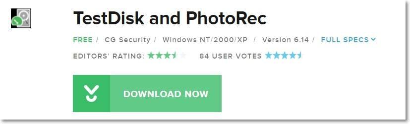Top 10 NTFS Undelete alternatives on Mac- Testdisk data recovery rating
