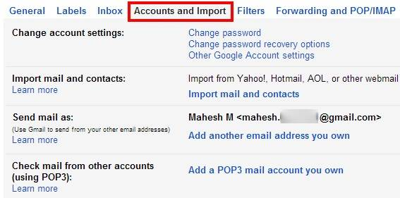 how to delete a Gmail account-accounts and import