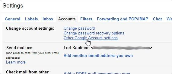 how to delete a Gmail account-change account settings
