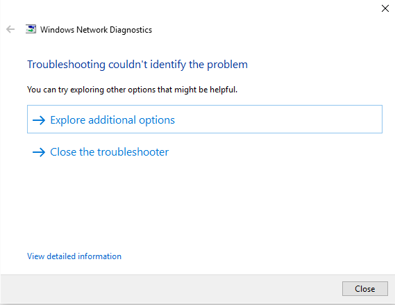 can not connect Internet in Windows 10 steps