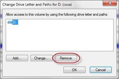 ocultar partición en Windows paso 4