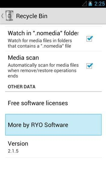 recycyle bin to recover deleted files