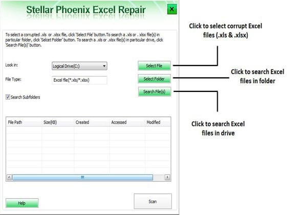 fix Microsoft excel error step 1