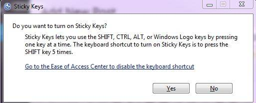 Fixing the issue of shift key not working