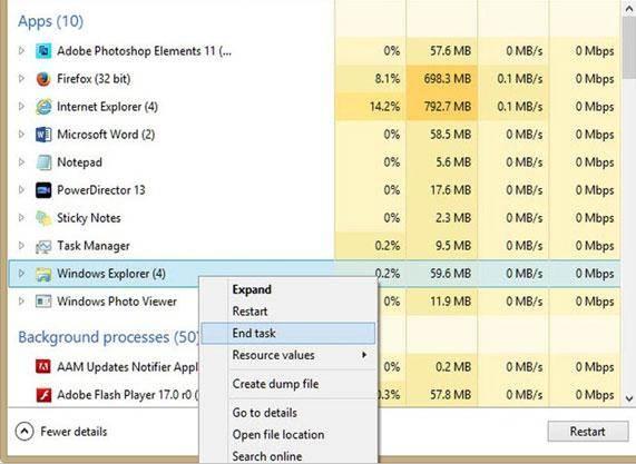 remover arquivos corrompidos - reiniciar o computador