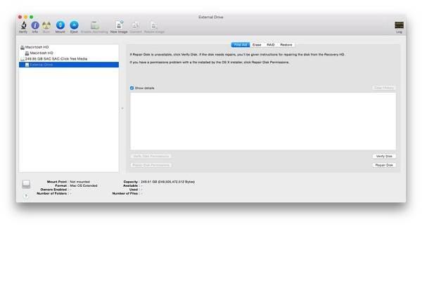 nicht erkannt Festplatte auf dem Mac reparieren Schritt 3