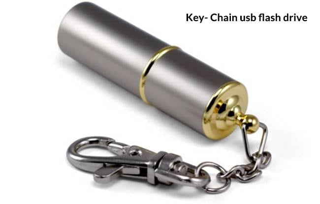 Different types of USB flash drives-key chain usb flash drive
