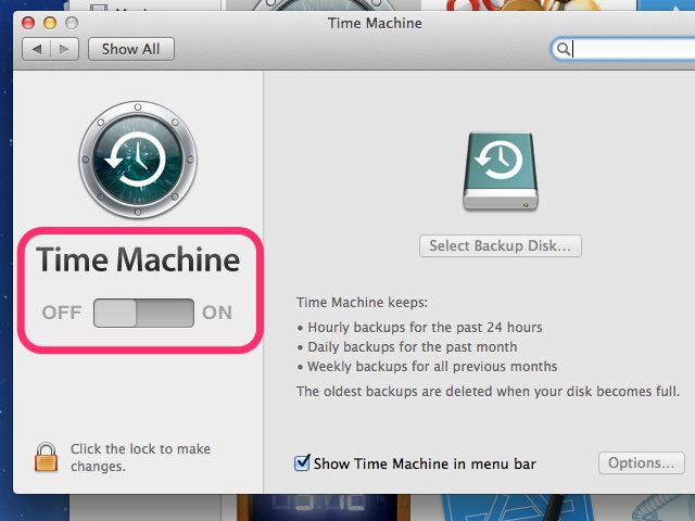 how to recover deleted internet history on Mac -ensure time machine is on