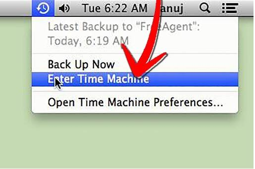 how to recover deleted internet history on Mac-open time machine