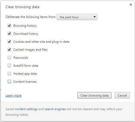 How to Clear Google Chrome browsing data
