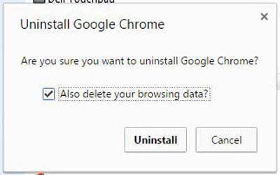 Uninstall Google Chrome from a Windows PC