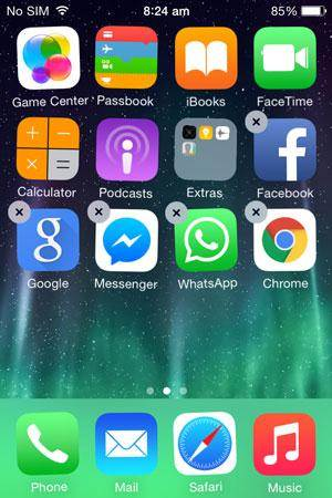 Remove Google Chrome from iOS