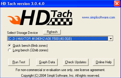 Hard Disk Speed Test for Windows-HD Tack-3