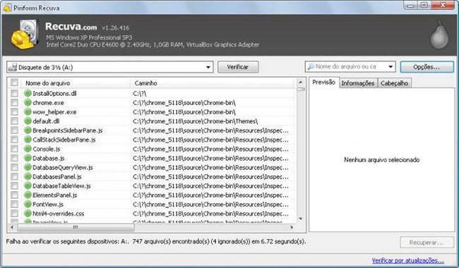 Top 6 kostenlose SD-Karten-Datenrettungssoftware -Recuva
