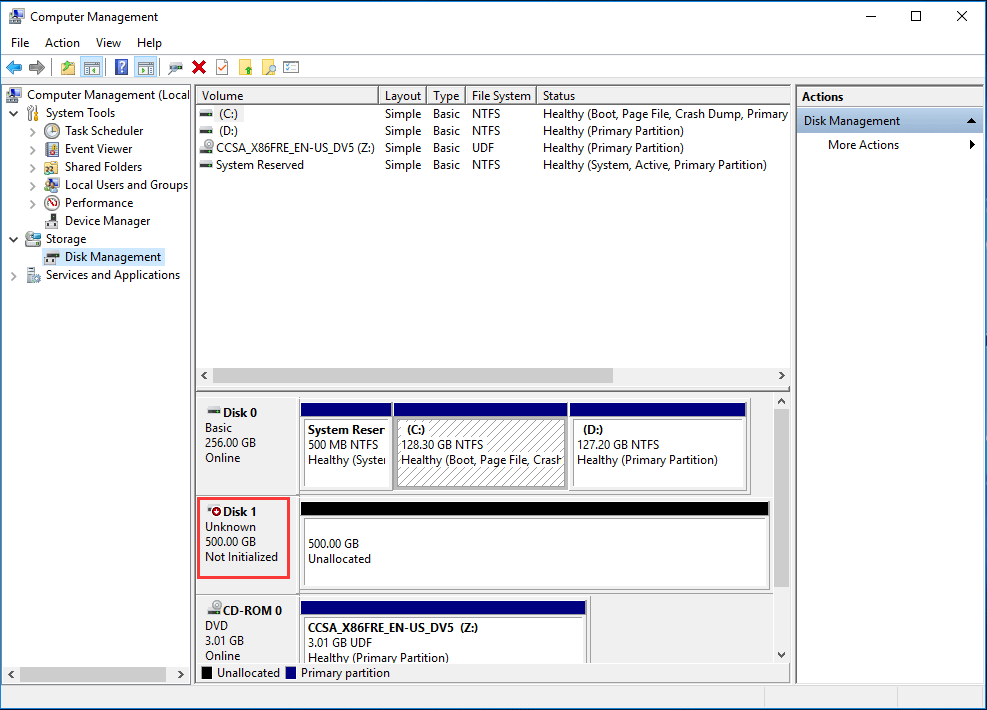Recover Data from Uninitialized Disk-hard drive not initialized