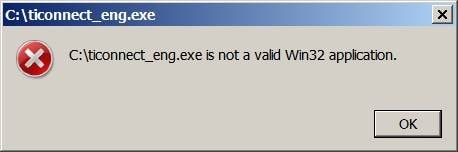 Why it Shows Not a valid Win32 application