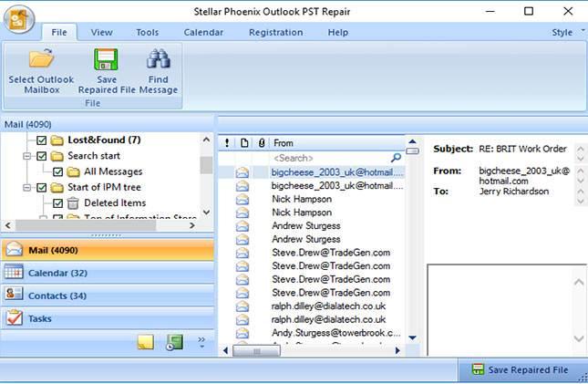Beschädigte PST-Datei reparieren Schritt 4