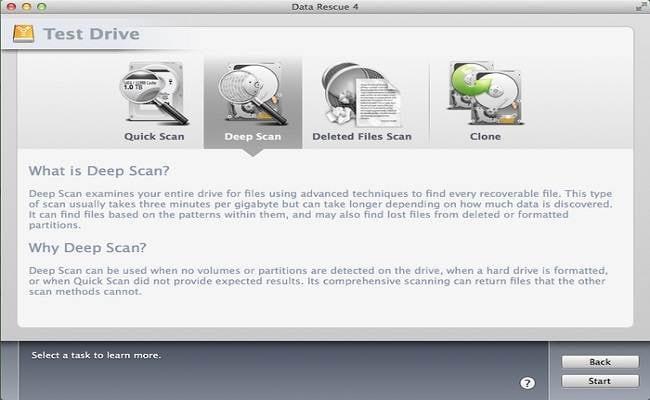 Software Gratuito para Recuperar Datos de Mac-Data Rescue 4