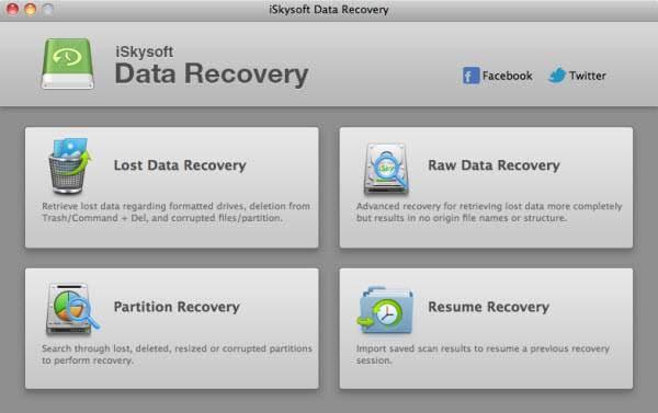 Software Gratuito para Recuperar Datos de Mac-iSkysoft Data Recovery